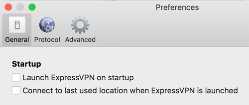 ExpressVPN Mac Settings