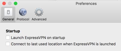ExpressVPN Mac Settings