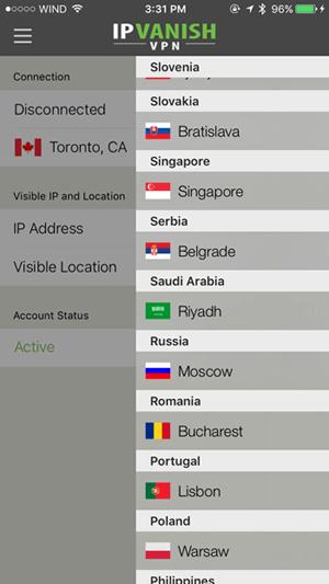 IPVanish iOS App