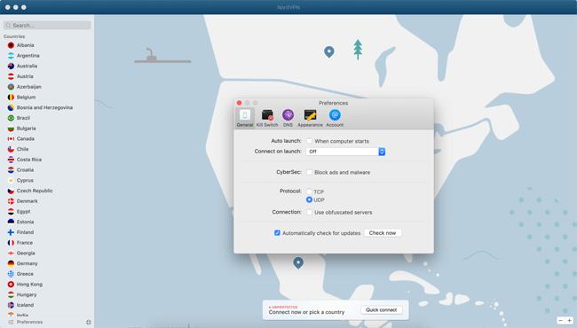 NordVPN Mac app