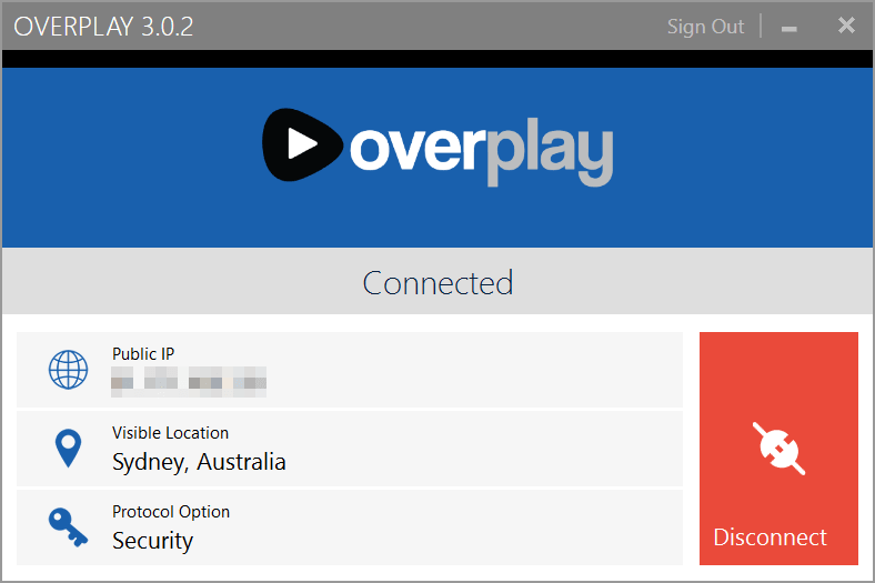 Overplay Windows Client