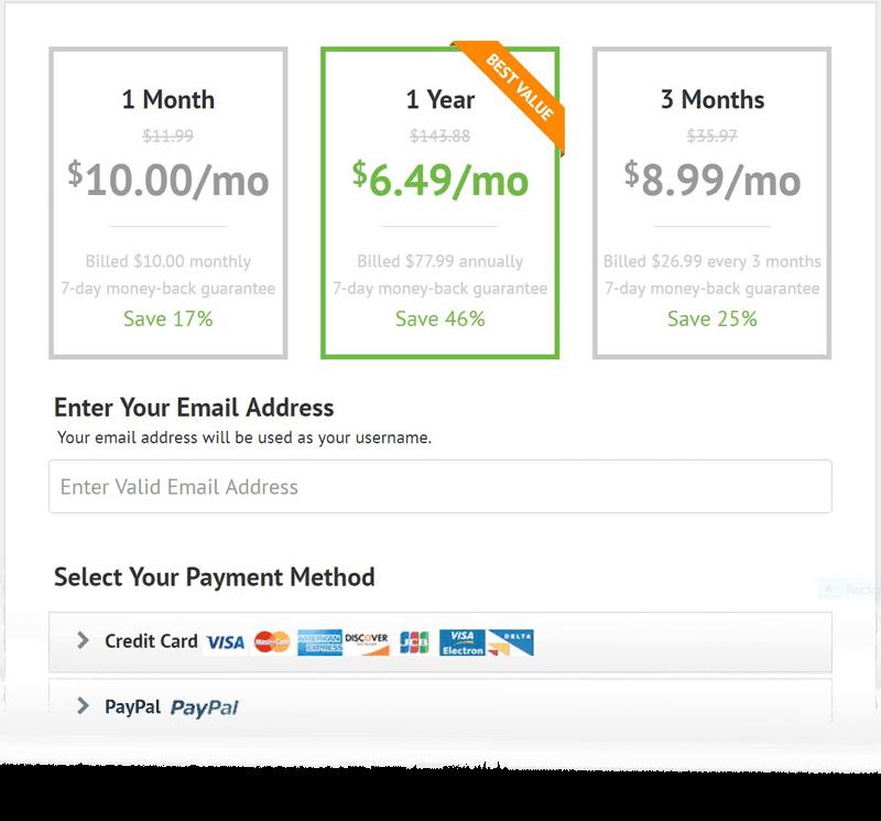 IPVanish Package Selection
