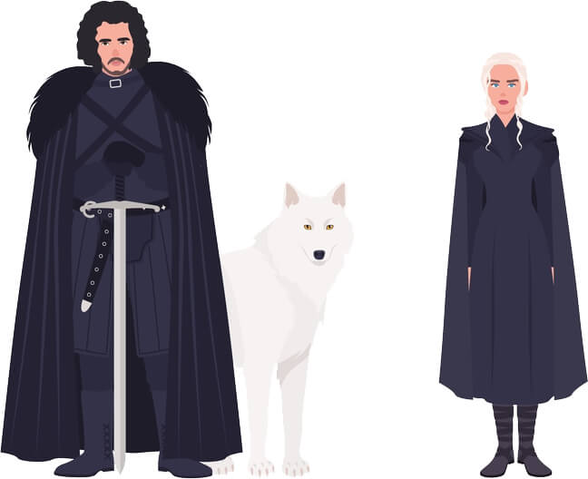 Jon Snow from Game of Thrones illustration