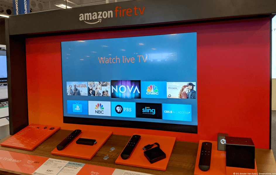 Amazon FireTV range in a store