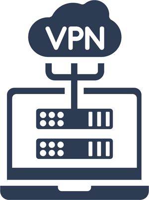 Illustration showing a VPN