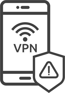 VPN on a phone illustration