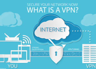 An infographic showing what a VPN is
