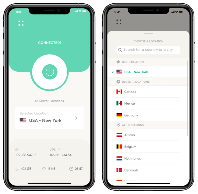 WeVPN iPhone app
