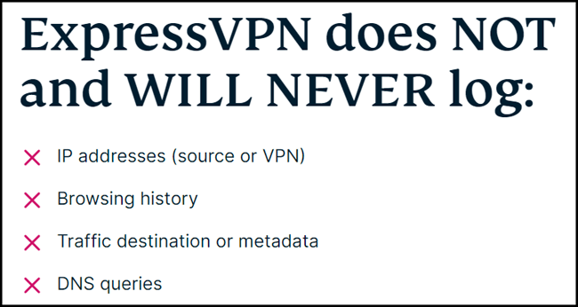 ExpressVPN log policy